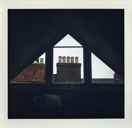 A loft window at a Brixton flat