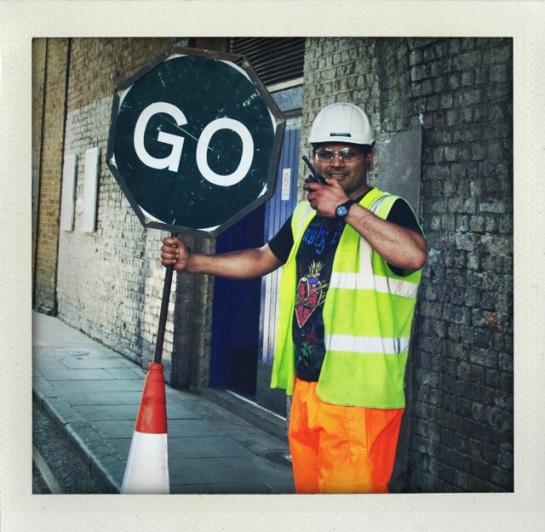 Roads works somewhere around London Bridge