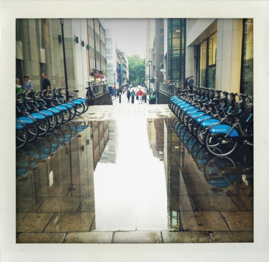 The Citi Bikes just around the Charing Cross
